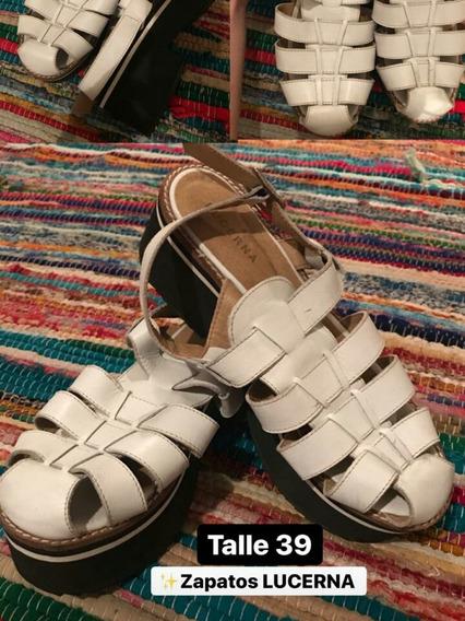 Zapatos Blancos Con Plataforma