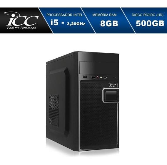 Computador Intel Core I5 3,2ghz 8gb Hd 500gb Monitor 24game