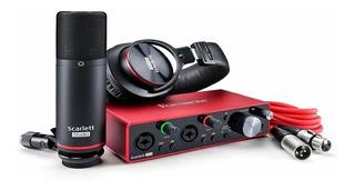 Kit De Grabacion Focusrite Scarlett 2i2 Studio Premium 3ra