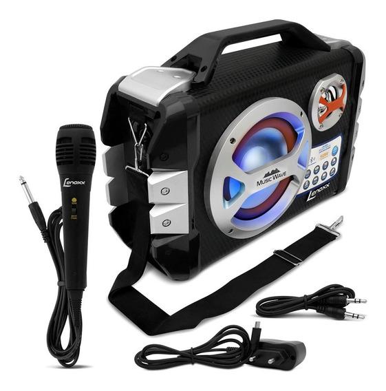 Caixa De Som Amplificadora Lenoxx Music Wave Ca-323 Mic Fm