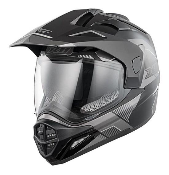 Capacete X11 Crossover X3 Motocross Com Óculos Interno Viseira Motoqueiro Motociclista Cross Trilha Moto Offroad