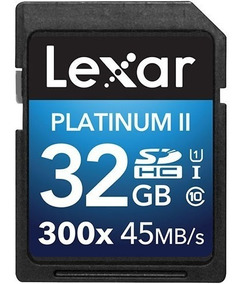 Cartão De Memória Sdhc Lexar 32gb Platinum 2 45mb/s C/ Nf-e