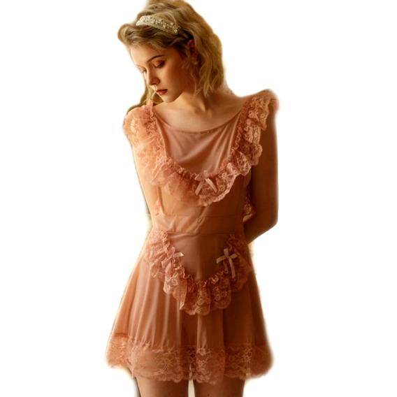 Lenceria Baby Doll Rosa Sexy Camison Erotico Con Envio