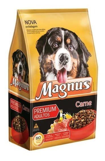 Ração Magnus Premium Carne Para Cães Adultos 15kg