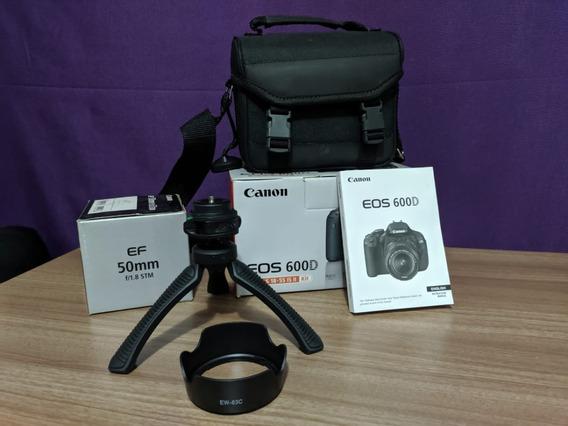 Canon T3i (600d) Com Caixa E Acessórios.