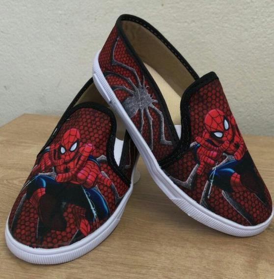 Tênis/ Sapatenis Baby Personagem Homem Aranha