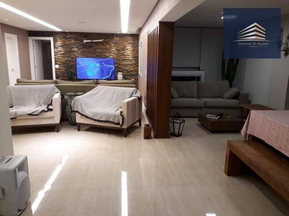 Apartamento De Alto Padrão, Condomínio Solon Vila Rosália, 182m², 3 Vagas, 3 Suítes. - Ap0743