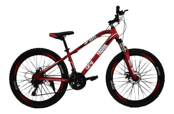 Bicicleta Montaña Monk Inxss Shimano F/dis Rodada 26 21 Vel