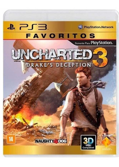 Uncharted 3 Ps3, Físico, Usado 4 Vezes