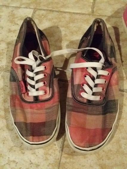 Zapatos Deportivos A Cuadros De Dama Talla 38