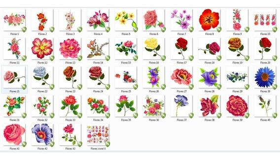 Floresr3 Rosas Arabescos Florais Filetes Flor Vetor Imagem