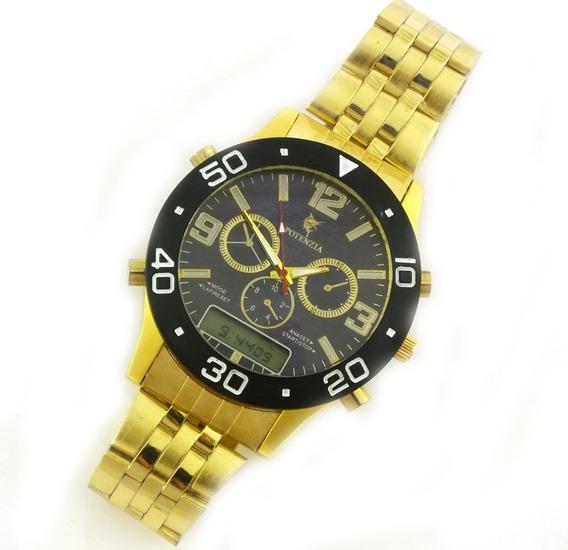 Relógio Masculino Potenza Analógico Com Pulseira Metal B5650