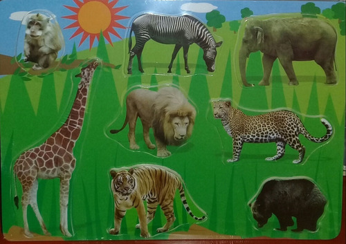 Dream Puzzle Animales Selva M192 30x21cm Encastre Edu