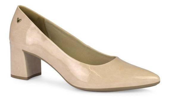 Sapato Scarpin Mississipi Salto Baixo Grosso Bico Fino Q0161