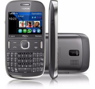 Celular Nokia Usado Asha 302 Wifi 3g Qwerty Câmera 3.2mp