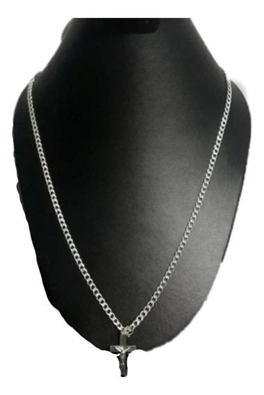 Cadena Cubana Diamantada Plata 925