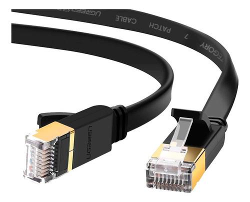 Cable Red Ethernet Rj45 Plano Cat7 Chapado Oro 2 Metros