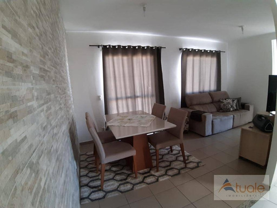 Apartamento Com 2 Dormitórios À Venda, 57 M² - Parque Euclides Miranda - Sumaré/sp - Ap6707