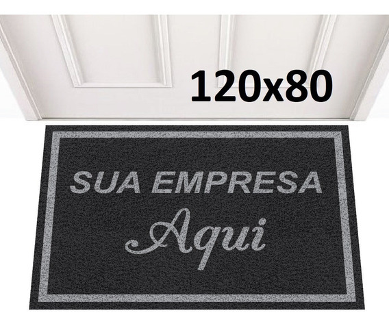 Tapete Capacho 120x80 Personalizado Logomarca Empresa Loja