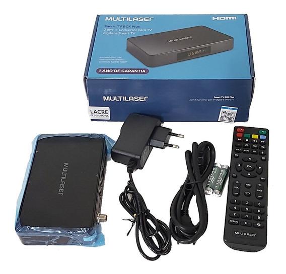 Smart Tv Multilaser Box 2 Em 1 Conversor Tv Digital Android