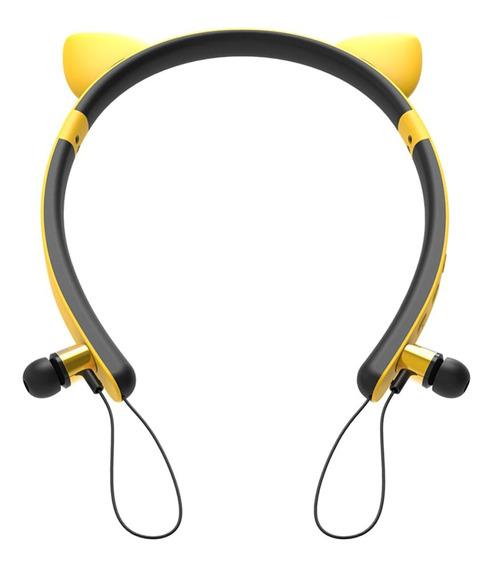 Fone De Ouvido Estéreo Sem Fio Bluetooth Bonito Com Microfon