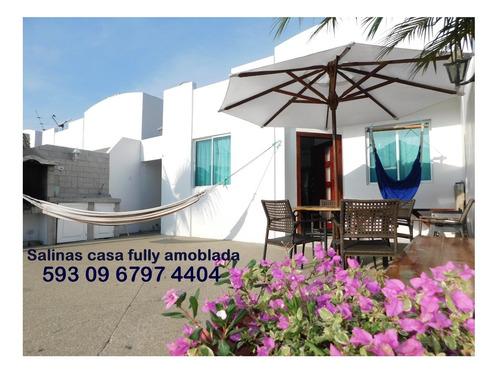 Imagen 1 de 14 de Salinas Alquiler Casa Familiar Full Amoblada Playa Piscinas