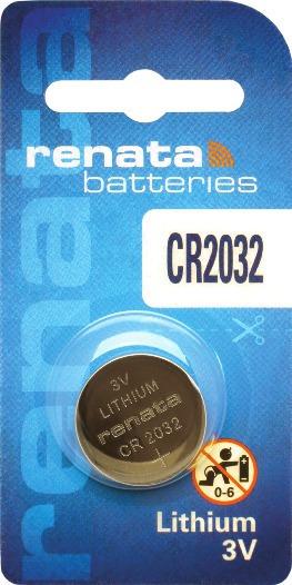 10 Pilhas Baterias 2032, Relógios 3v Renata Cr2032 Original