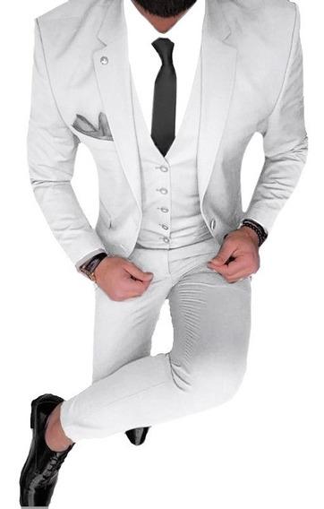 Traje Entallado Satinado Con Zapato Camisa Y Corbata Import