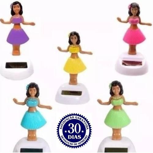 8 Boneca Havaiana Solar Dança Hula Hula Carro Fusca Festas