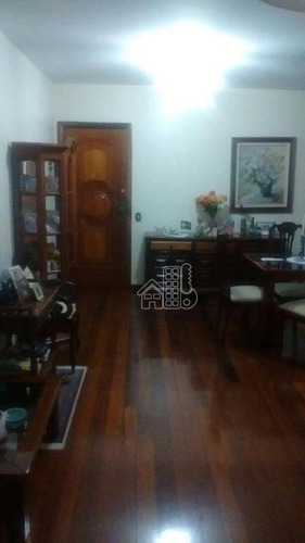 Apartamento Com 3 Dormitórios À Venda, 100 M² Por R$ 780.000,00 - Icaraí - Niterói/rj - Ap1489