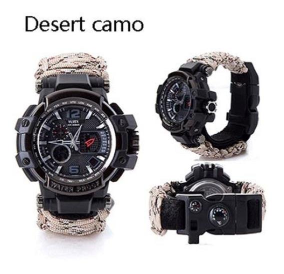 Relógio Tático Expiini Yuzex Survival Gear 8 Em 1 Militar