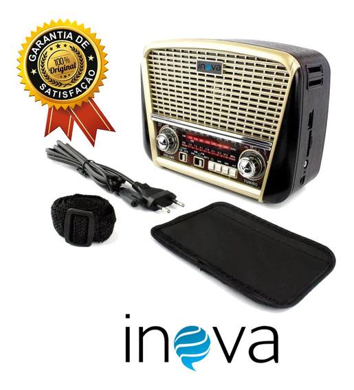 Rádio Portátil 3 Bandas Am/fm/usb-8392 Inova Retro Lanterna