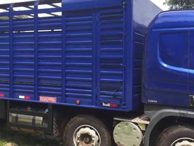 Scania P310 Bitruck Automatica Com Carroceria Boiadeiro 2018