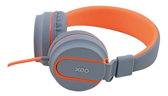 Headset Fone Neon Oex Hs106 Laranja