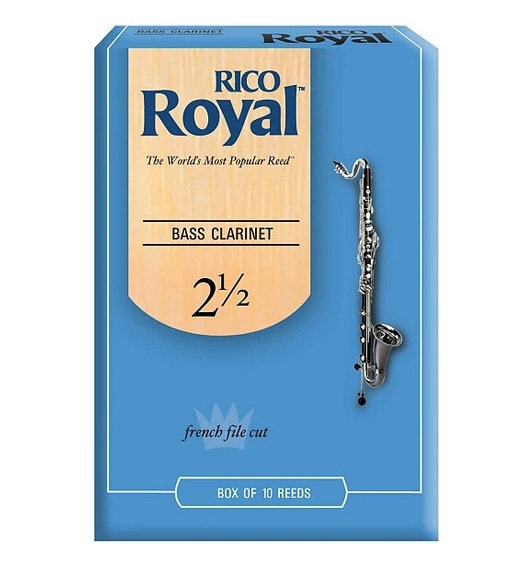 Cañas Para Clarinette Bass Rico Royal 2½ Reb1025 X 10 U