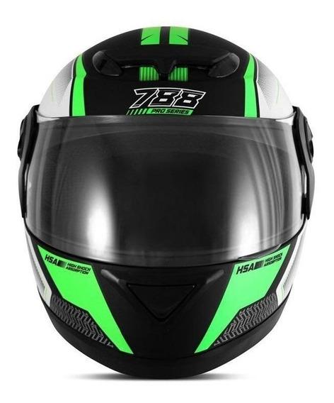 Capacete para moto integral Pro Tork Evolution G6 Pro Series verde tamanho 56