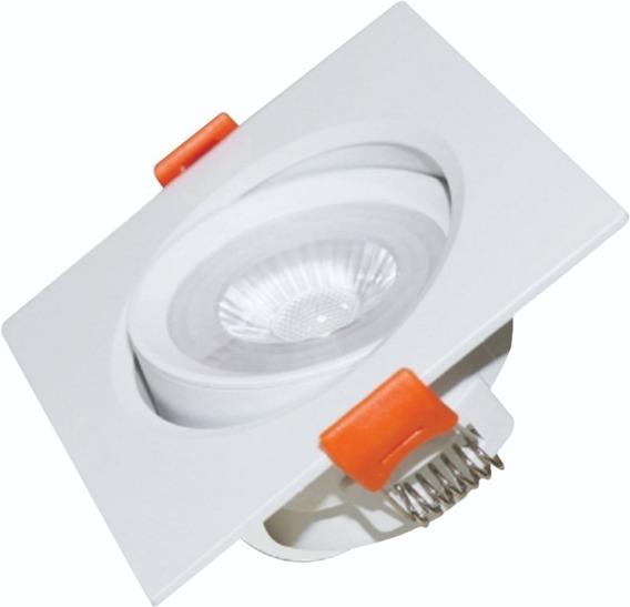 Kit 10 Spot Super Led 12w Branco Frio/q Lampada Quadrado Smd