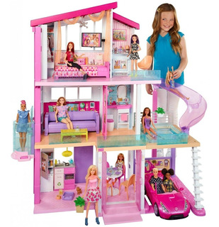 Barbie Mega Casa Muñecas Sueños 70 Pz Mansion Dreamhouse