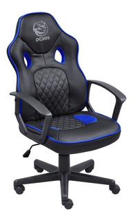 Cadeira Gamer Pcyes Mad Racer Master Madstimsaz Preta/azul