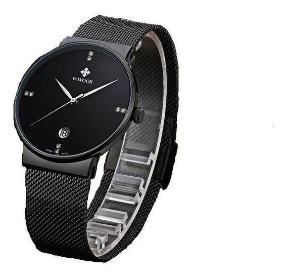 Relógio Masculino Ultrafino Luxuoso Original Lançamento 2020