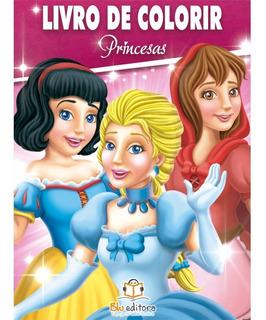 Livro De Colorir Princesas 80 Páginas