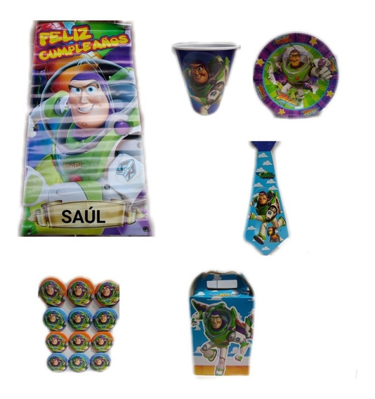 Toy Story Buzz Light Year Fiesta Artículos Paquete Set Kit N