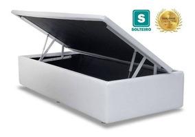 Cama Box Baú Solteiro 88x188x35 - Acolchões