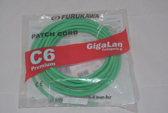 Extensão Premium Rj-45 Cat.6 T568b Solido - 6.0m Verde Lszh