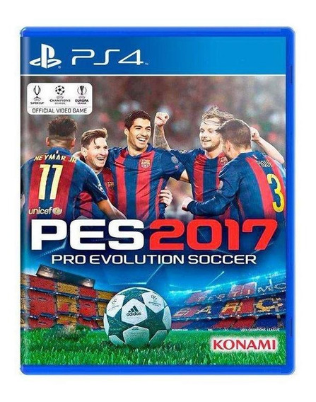 Pro Evolution Soccer 2017 Pes 17 Ps4 Mídia Física