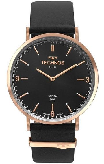 Relógio Technos Slim Unissex Rosé 2025lto/2p