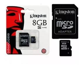 10 Cartao De Memoria Kingston Micro Sd - 8 Gb - Sdc Class 4