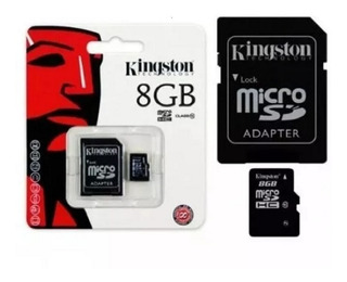 10 Cartao De Memoria Kingston Micro Sd - 8 Gb - Sdc Class 4