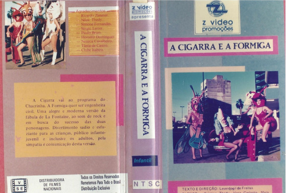 A Cigarra E A Formiga Dvd