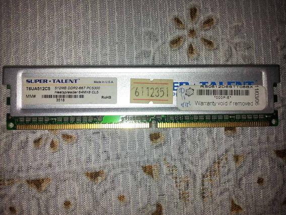 Super Talent Memoria 512mb Ddr2-667 Pc5300 So-dimm T6ua512c5